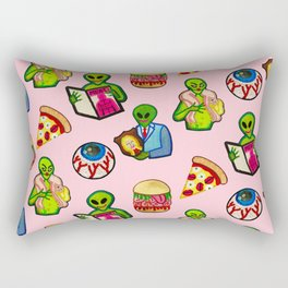 Pick and Mix of Bad Aliens Rectangular Pillow