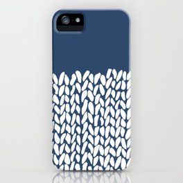 Half Knit Navy iPhone Case