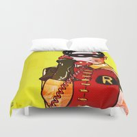 robin Duvet Covers featuring Robin by Ed Pires