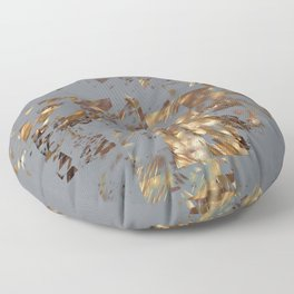 Bronze on Gray Square #abstract #society6 #decor #geometry Floor Pillow