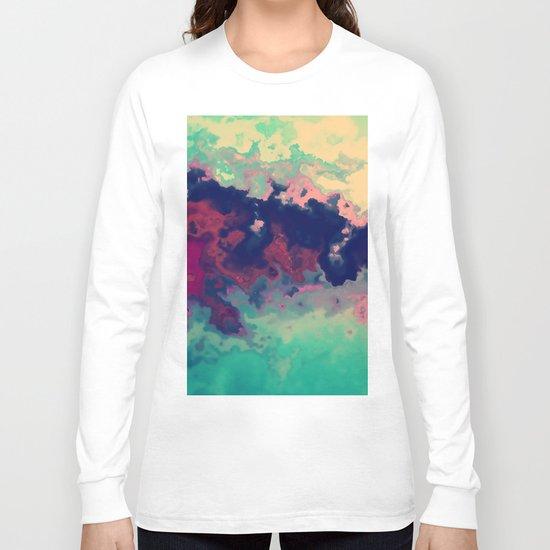 Watercolor marble Long Sleeve T-shirt