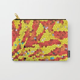 Yellow and red abstract Carry-All Pouch