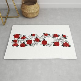 Rock of Red Roses Rug