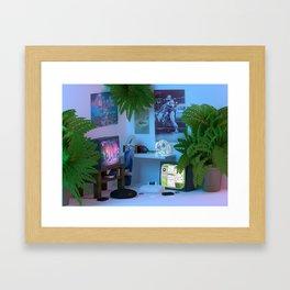 Little 90's Living Room Framed Art Print