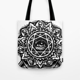 Eye of God Flower Tote Bag