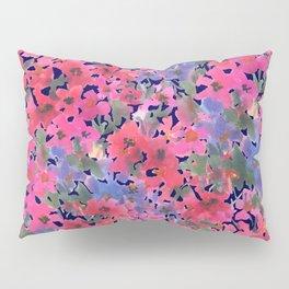 Dark Red Poppy Garden Pillow Sham