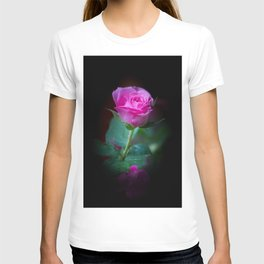 Wet Pink Rose T-shirt