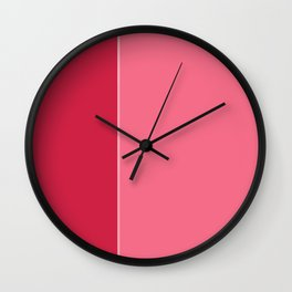 Red Lines Wall Clock