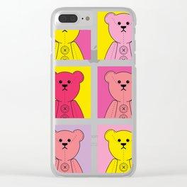 Grumpy Teds Bright Block Clear iPhone Case