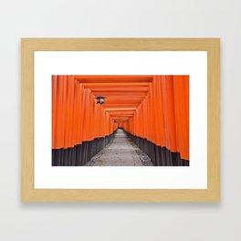 Torii Gates Framed Art Print