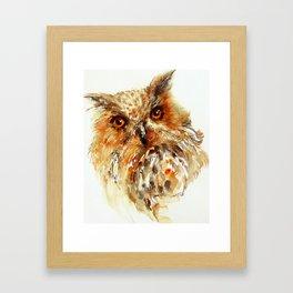 Bronzai _ Owl Framed Art Print