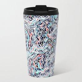 black topography Metal Travel Mug