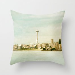 Alki Beach Throw Pillow