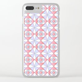 symetric patterns 71 -mandala,geometric,rosace,harmony,star,symmetry Clear iPhone Case