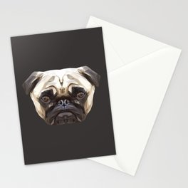 Pug // Natural Stationery Cards