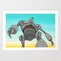 iron giant Art Prints featuring Iron Giant by 117 Art