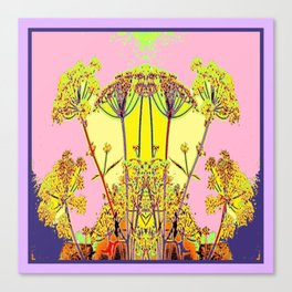 Queen Ann's Lace Floral Design Canvas Print