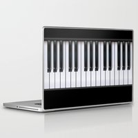 piano Laptop & iPad Skins featuring Piano by rob art | illustration