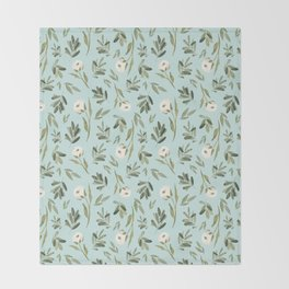 Minted Cotton Throw Blanket
