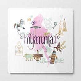 Drawings from Myanmar Metal Print