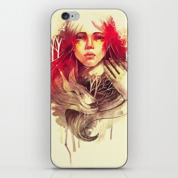 Purity In Red iPhone Skin
