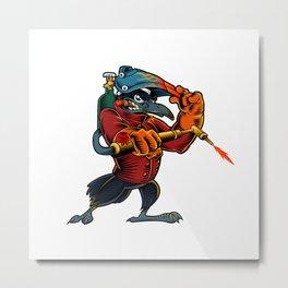 Cartoon Mascot Image of a Raven Metal Print