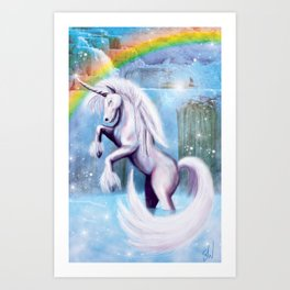Unicorn and Sparkles - Day Art Print