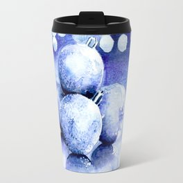 Blue sparkling ornaments Travel Mug
