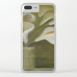 Calla Cut Flowers In A Vase Clear iPhone Case