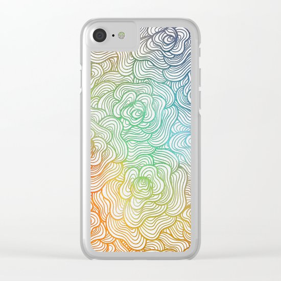Abstract Roses 2 Clear iPhone Case