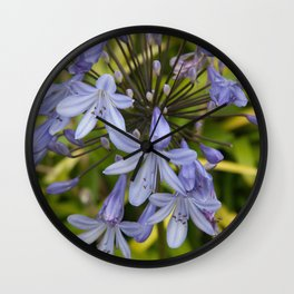 Little Blue flowers in Nature Wall Clock