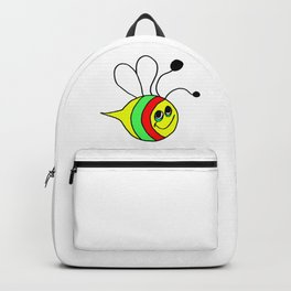 Drawn by hand a colorfull bee for children and adults Backpack