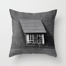 Old Roof Window 6680 Throw Pillow