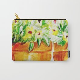 Pansies in yellow Carry-All Pouch