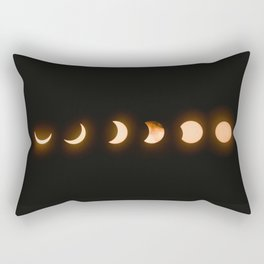 moon phases bright moon crescent moon astronomy night sky solar eclipse magic wicca lunar calendar Rectangular Pillow