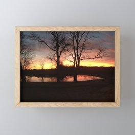 Fire in the Sky  Framed Mini Art Print