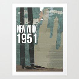 New York City, 1951 Art Print