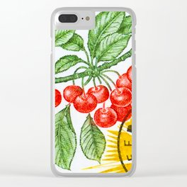 Branch of a cherry tree in summer Clear iPhone Case