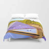 bonjour Duvet Covers featuring Bonjour by Hola Vicky