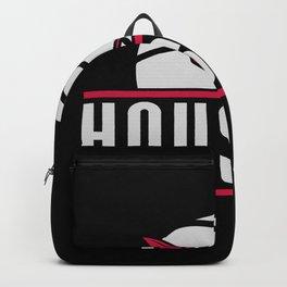 Houston basketball custom black logo Backpack