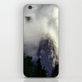 Mystical Mountains in Clouds, Landscape Nature Photography iPhone Skin