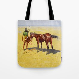 "Frederic Remington Western Art ""Hunted Down"" Tote Bag"