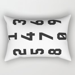 Typography Numbers #2 Rectangular Pillow