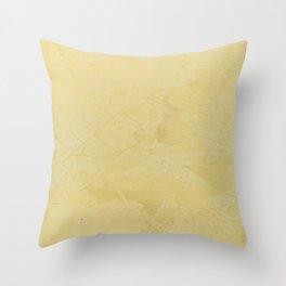 Tuscan Sun Stucco - Faux Finishes - Yellow Venetian Plaster Throw Pillow