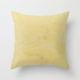 Tuscan Sun Stucco - Neutral Colors - Faux Finishes - Corbin Henry -Yellow Venetian Plaster Throw Pillow
