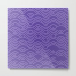 Ultra Violet Color of the Year 2018 Seigaiha seigainami wave of the sea abstract scales Metal Print