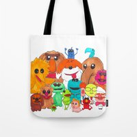 muppet Tote Bags featuring Muppet Doodle Jam! by Orangeblowfish