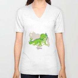 Iguana Unisex V-Neck