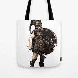 Greek hoplite warrior Tote Bag