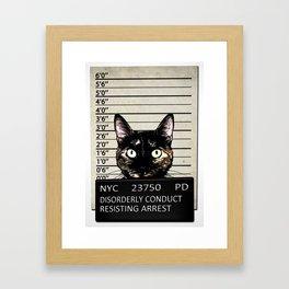 Kitty Mugshot Framed Art Print